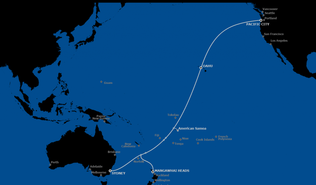 Transpacific cable reshapes communications in the Pacific